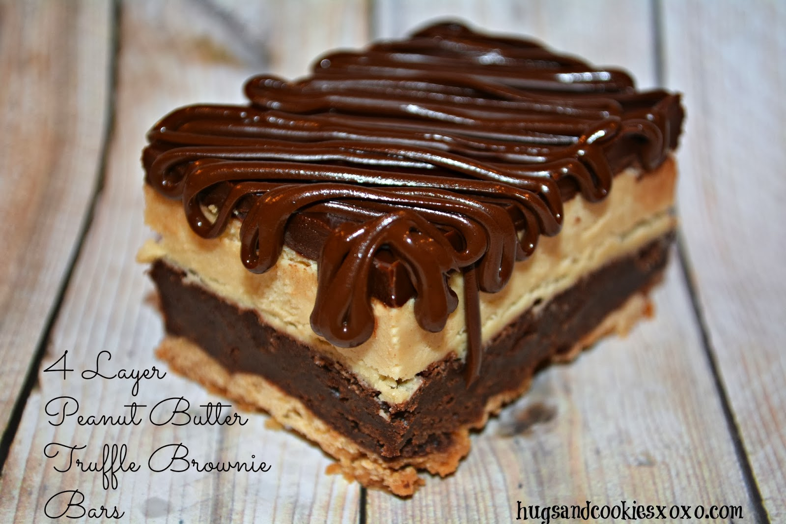 LAYER PEANUT BUTTER TRUFFLE BROWNIE BARS - Hugs and Cookies XOXO