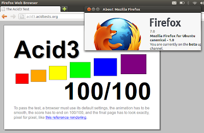 Firefox 7 Beta Firefox 7 Beta Arrives in Ubuntu 11.10, Scores a Perfect 100/100 in Acid3 Test