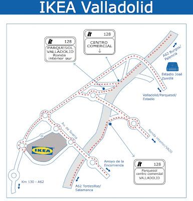 MAPA IKEA VALLADOLID