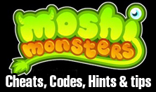 moshi monsters cheats codes hints and game tips