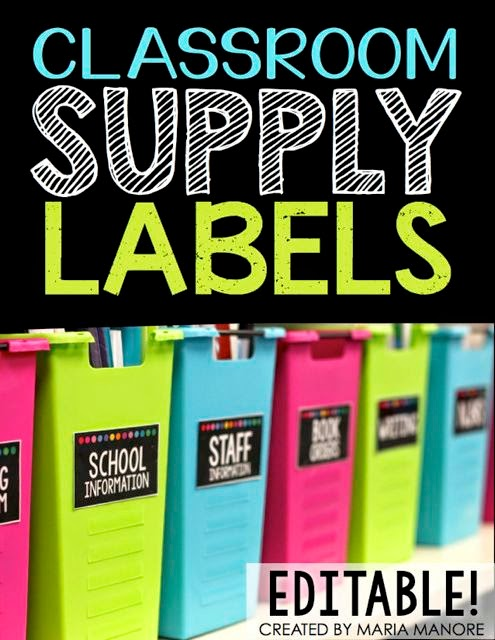 Classroom Supply Labels Black Series