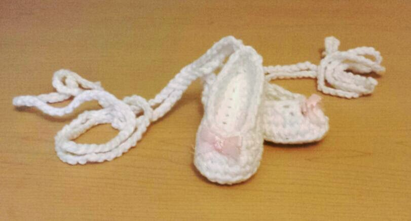 The Ripe Umbrella: Baby Crochet Ballet Slippers Free Pattern