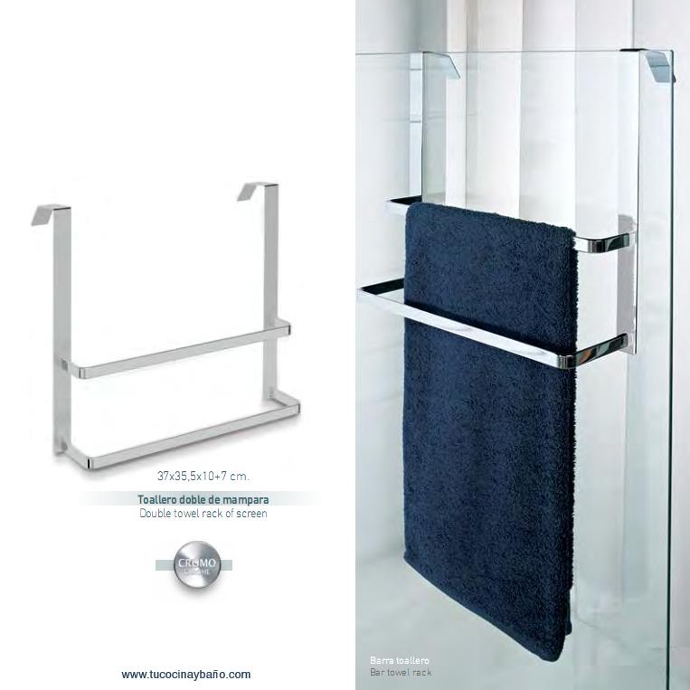 precio toallero ducha cristal doble toallas