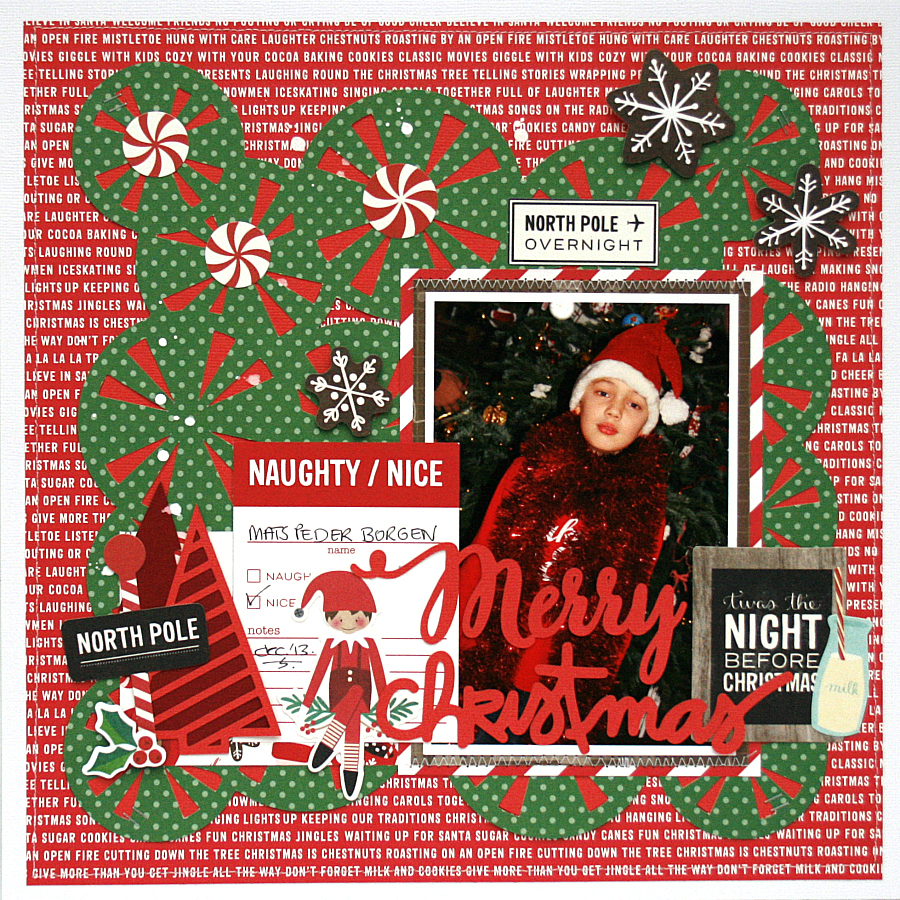 Merry Christmas Scrapbook Page by Monique Liedtke using 17turtles Digital Cut Files
