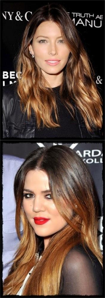 fair skin - Jessica Biel Vertombre :Ombre Brown hair