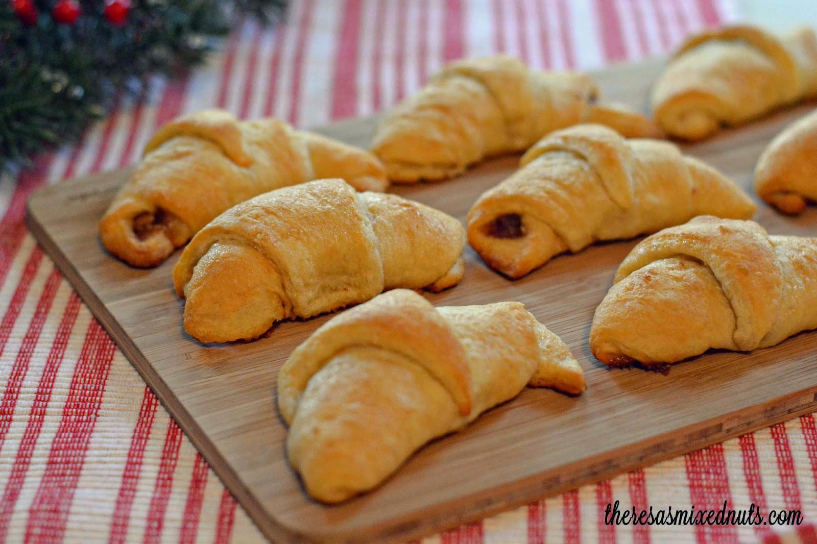 Honey Walnut Crecent Rolls