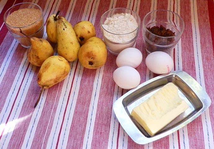 Golden pairs in caramel glaze cake ingredients pairs sugar flour eggs