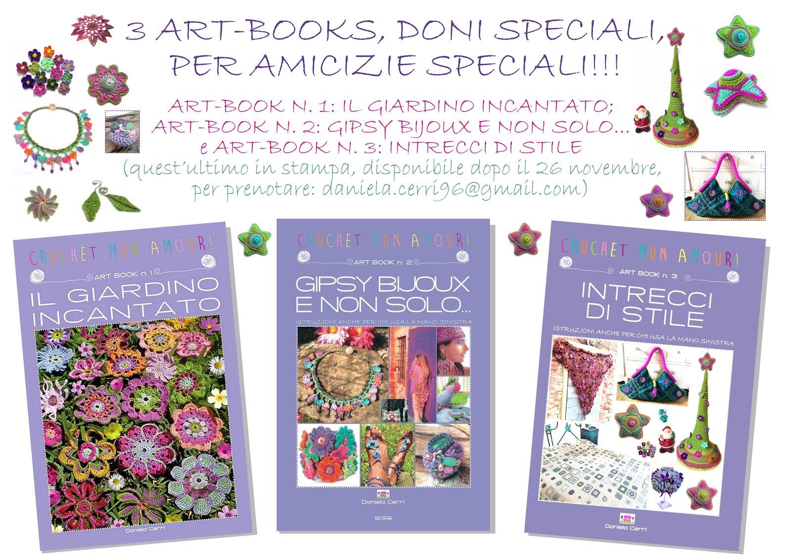 CROCHET MON AMOUR: 3 ART-BOOKS, DONI SPECIALI PER AMICIZIE SPECIALI!