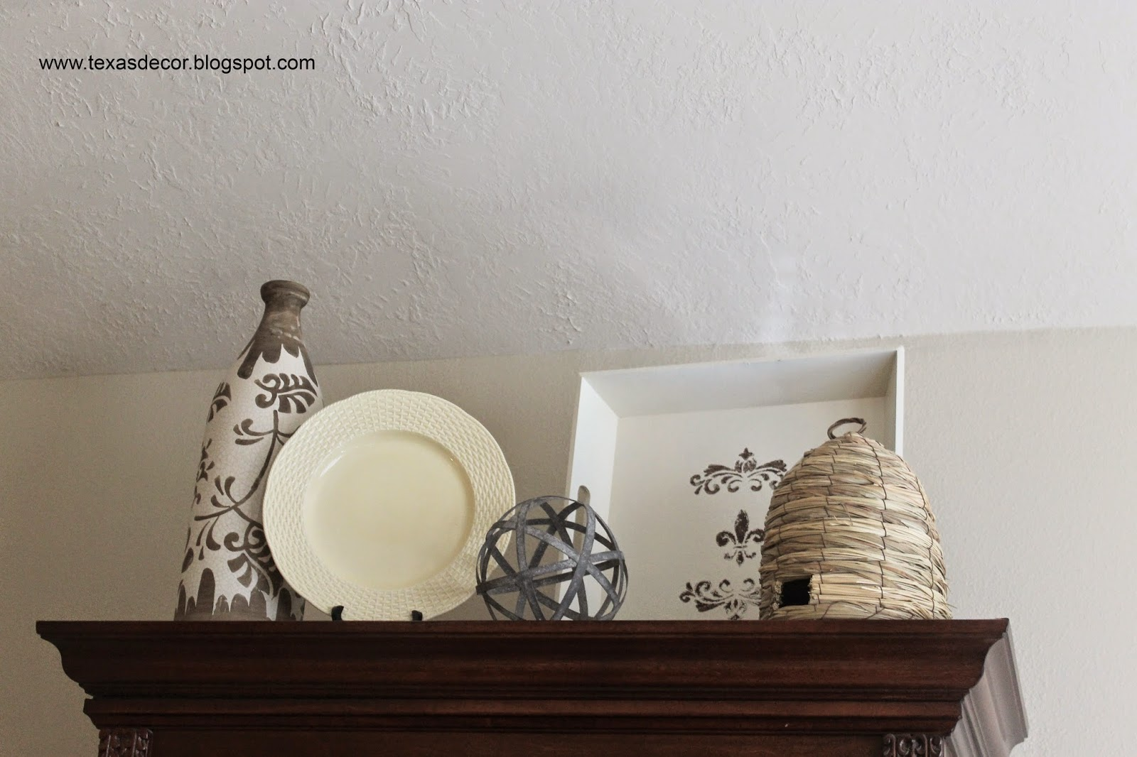 using bee skep in decor
