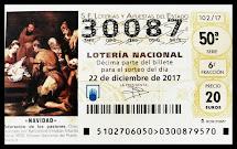 Décimo de lotería Navidad