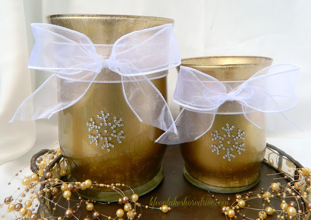 Candle Holder Votive Winter Makeover Tutorial