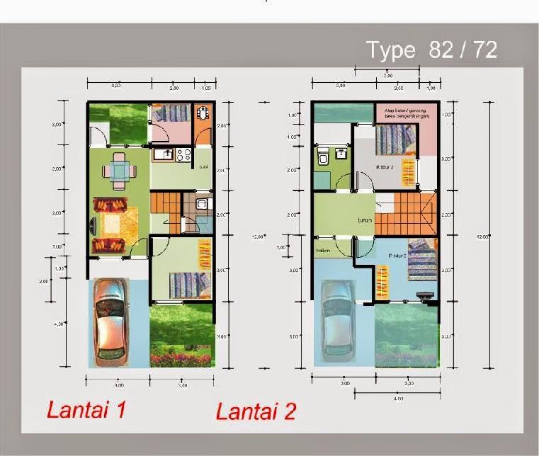 Gambar Denah Rumah Minimalis Modern 2 Lantai  Lensarumah