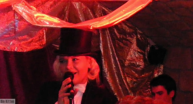 Truly Divine as Marlene Dietrich, Film Fatale Halloween Speakeasy party