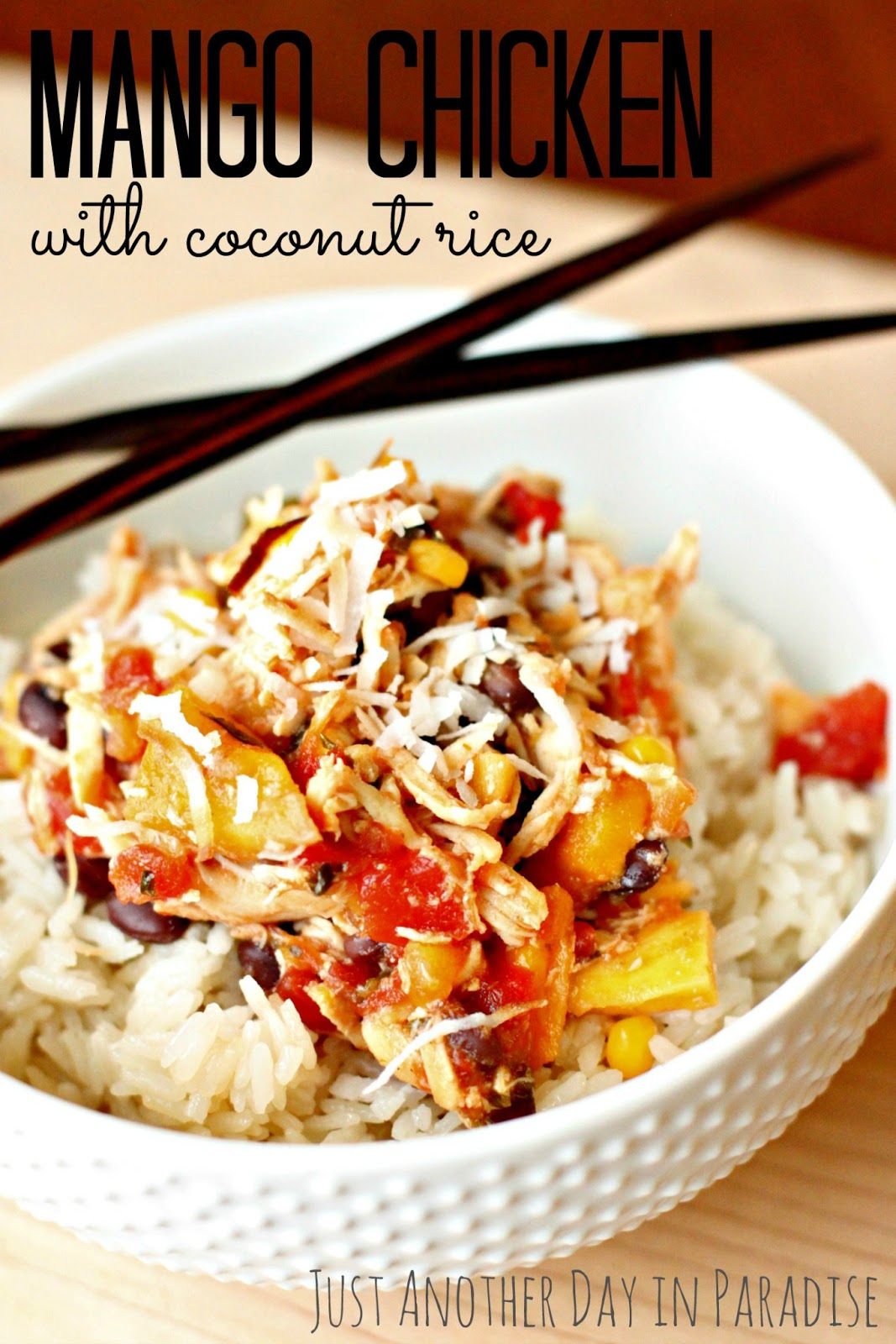 ... Day in Paradise: Slow Cooker Saturday: Mango Chicken with Coconut Rice