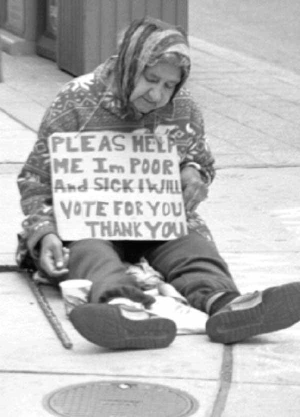 Homeless people slut