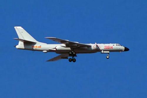 Máy bay ném bom H6 của Trung Quốc từng tới gần địa phận Nhật Bản