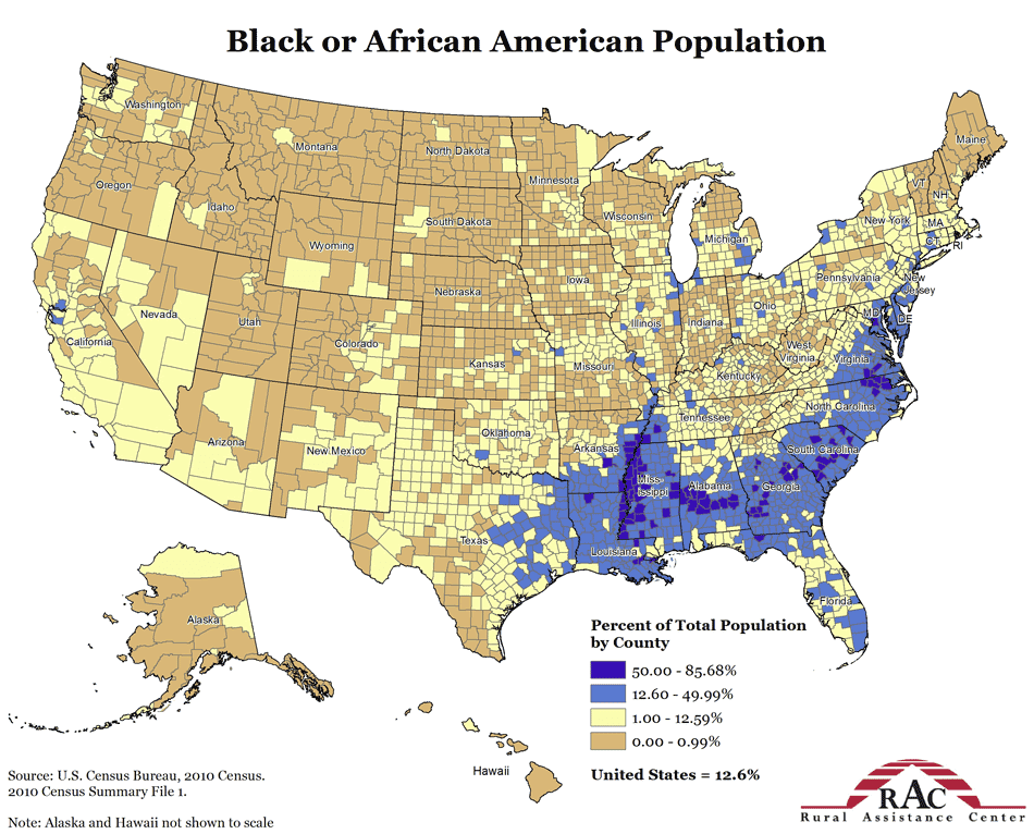 AM1111 2014 DH blog 1: Demographic map of the United States ...