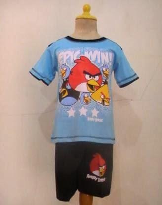 Baju kartun angry birds epic win, Toko Busana Anak