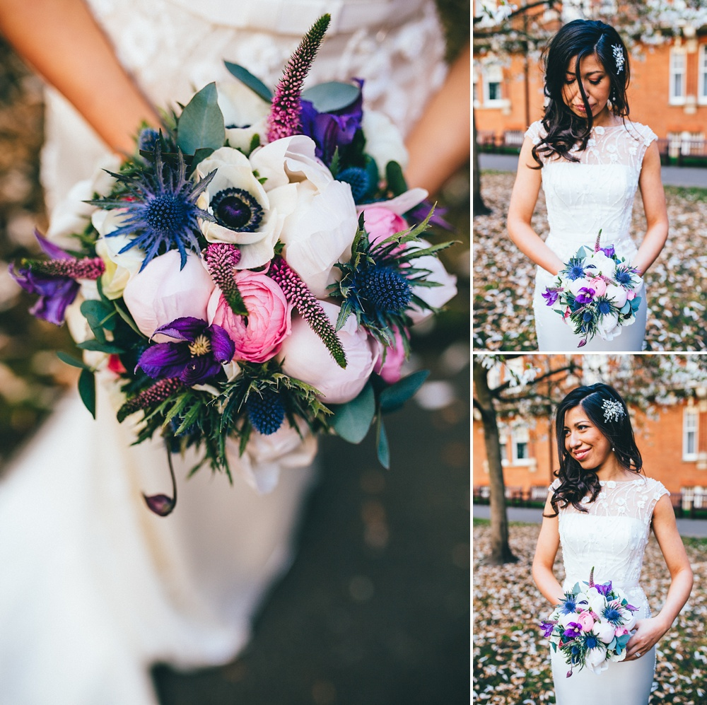 beautiful flowers wedding detail in bright colourful photography
