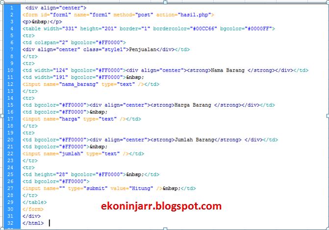 Menghitung Total Harga Penjualan Dengan PHP | Simpel Banget