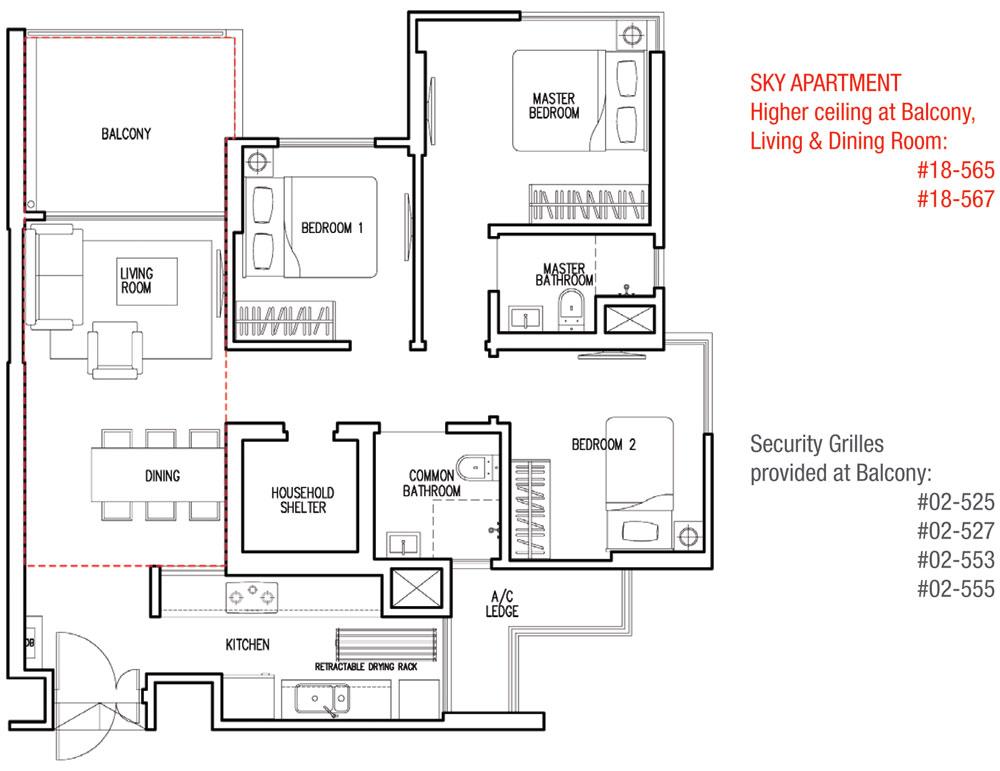 Parkland Residences Dbss Floor Plan