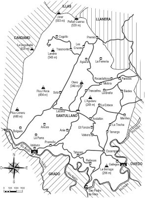Mapa de Les Regueres