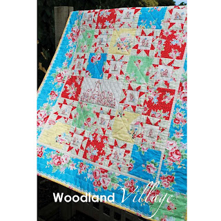 Cinderberry Stitches Woodland Village Quilt Pattern by Natalie Lymer