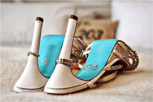aqua-wedding color palette ideas ivory bridal heels