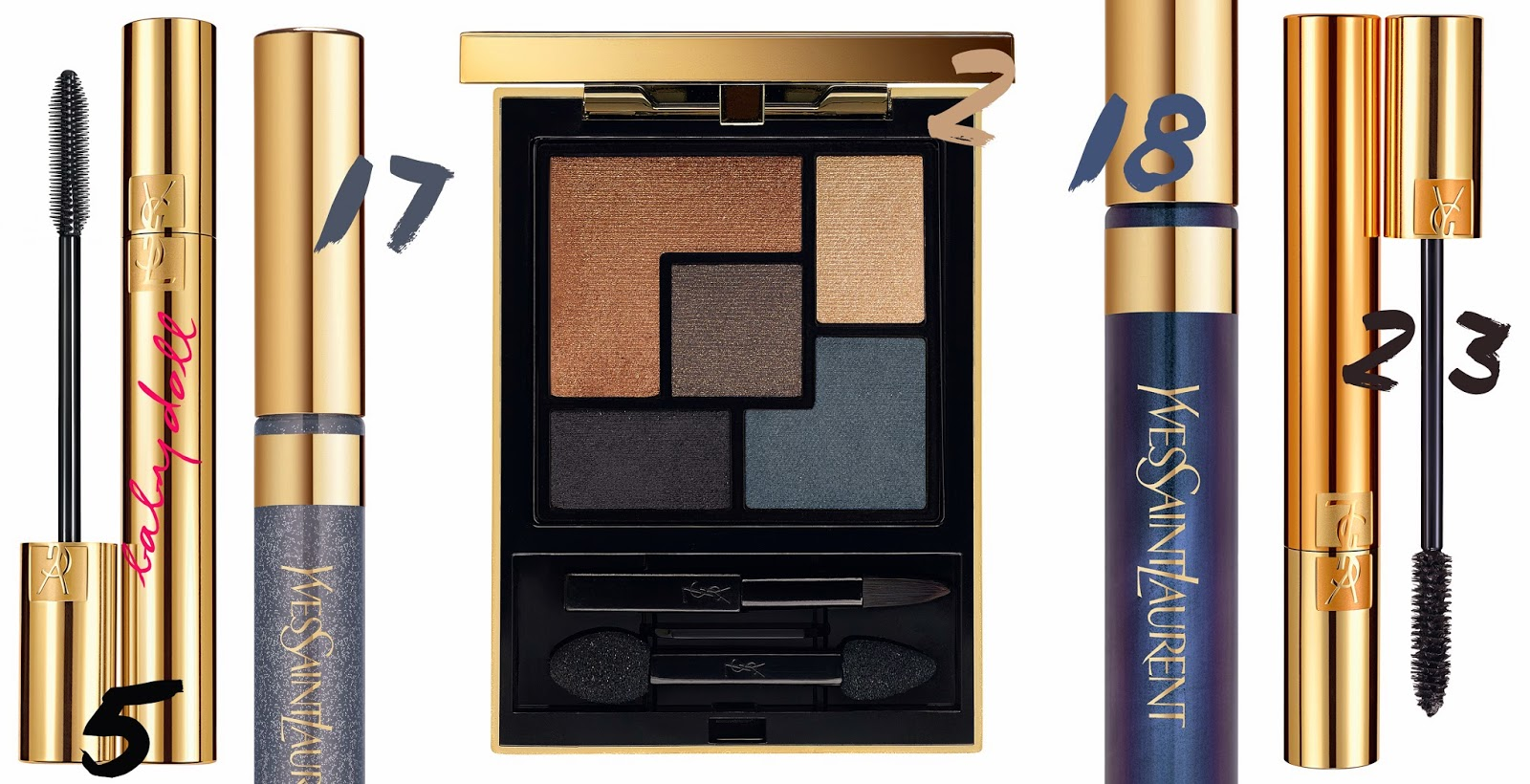 YSL, Yves Saint Laurent, Cuirs Fétiches, Couture Palette Collector Fetiche, Mascara Volume Effet Faux Cils, Baby Doll, Eyeliner Baby Doll,