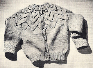 Vintage Childs Petal Cardigan Knitting Pattern