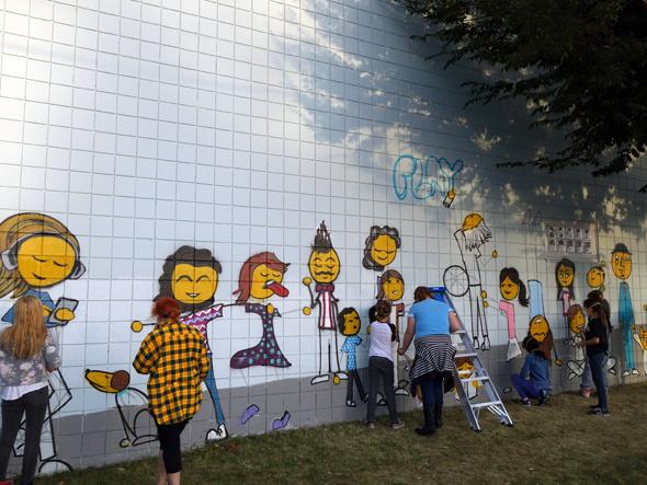 bauer center mural