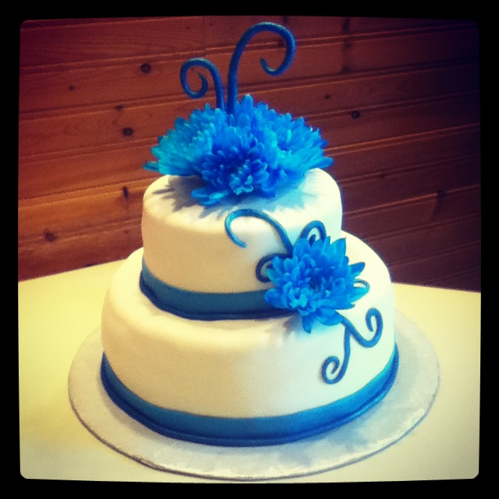 Specialty Cakes My Teal Blue Wedding Cake