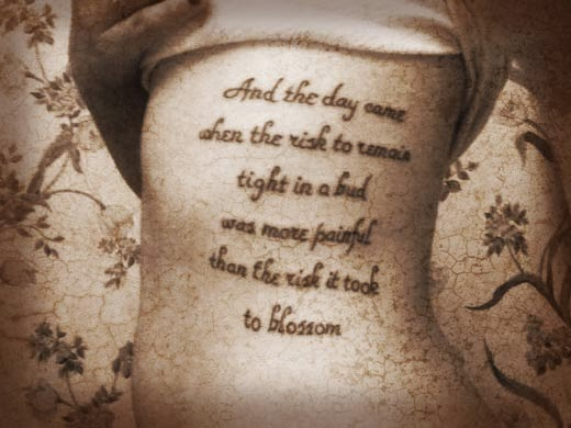 beauty tattoo quotes
