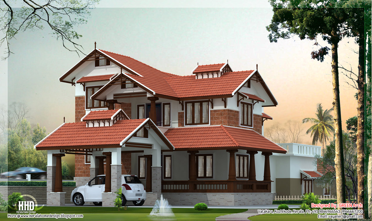 Beautiful villa in 2900 square feet house design plans for Beautiful villa design
