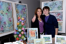The artist and her son