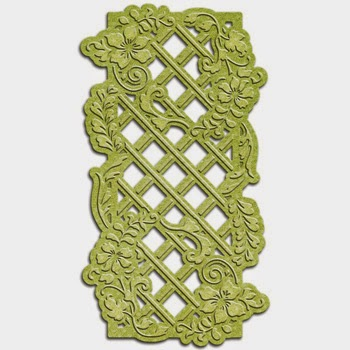 Spellbinders Shapeabilities Victorian Garden Foliage Lattice SBS4-528