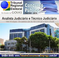 Apostila do Concurso Público do Tribunal Regional Eleitoral de Goiás para Técnico Judiciário do TRE GO 2014.
