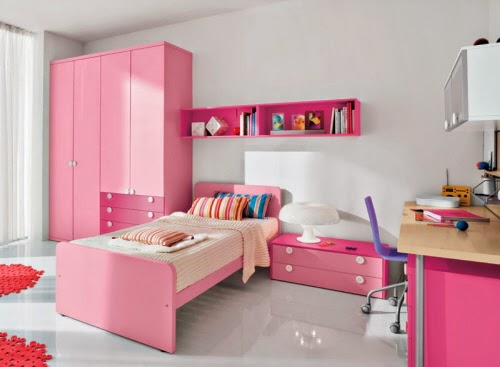 Beautiful Pink Girl Bedroom Designs