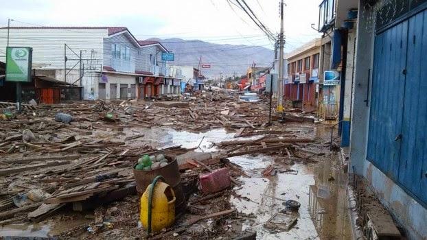 INUNDACIONES EN CHILE DEJAN 7 MUERTOS Y MAS DE 20 DESAPARECIDOS