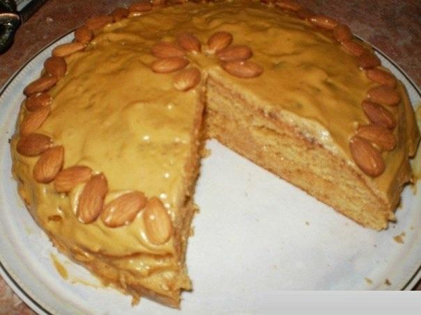 Торты со сгущенкой в домашних условиях рецепты с фото