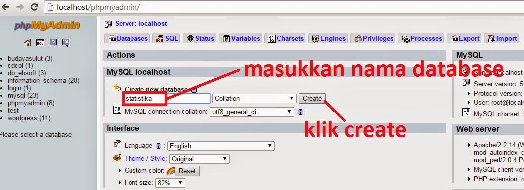 createdatabase - Membuat Kegiatan Mean Dengan Java Dan Mysql
