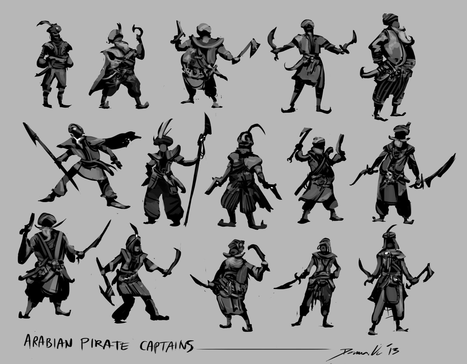 Character Design Summer Classes : Donna vu character design silhouettes