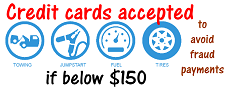 Credit cards accepted if below $150
