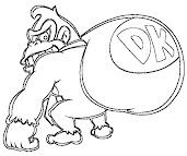 #7 Donkey Kong Coloring Page
