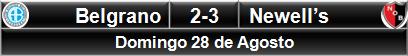 Belgrano 2-3 Newell's