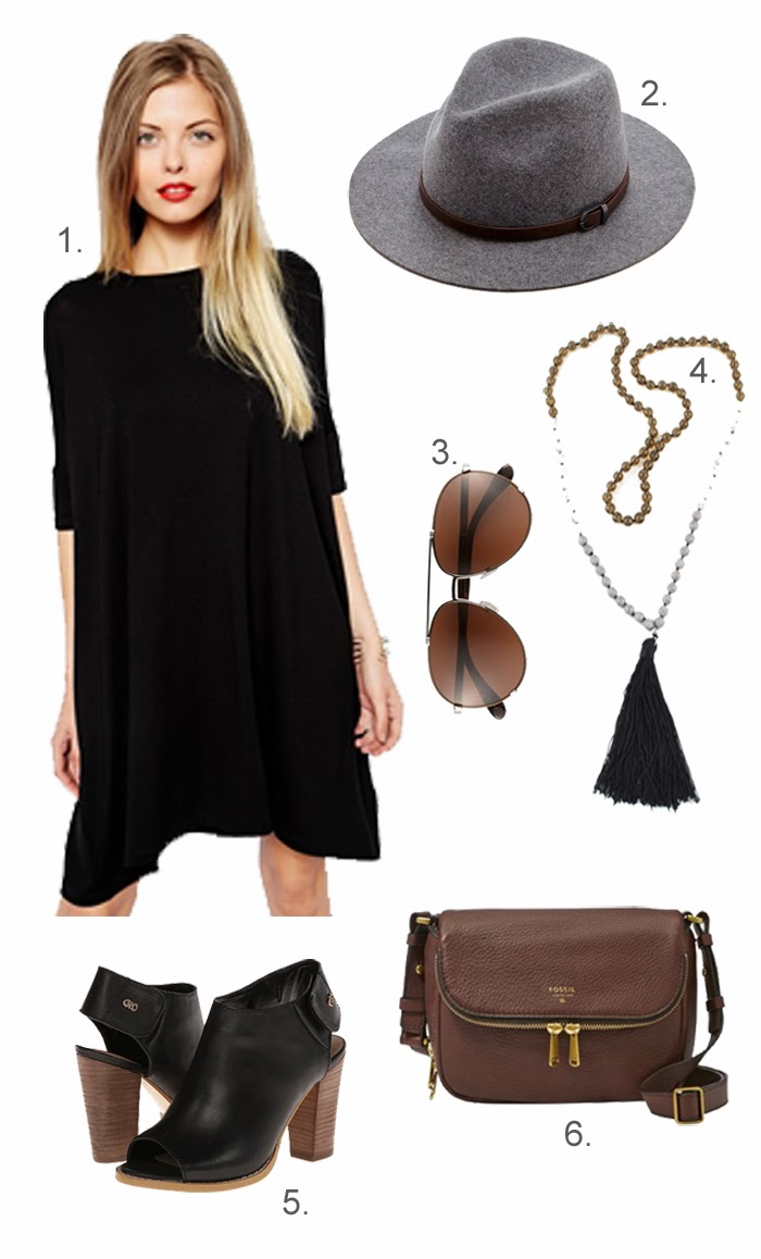 Black, Brown, and Grey Outfit