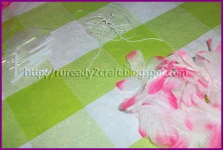 luau flower petals for hair bow craft