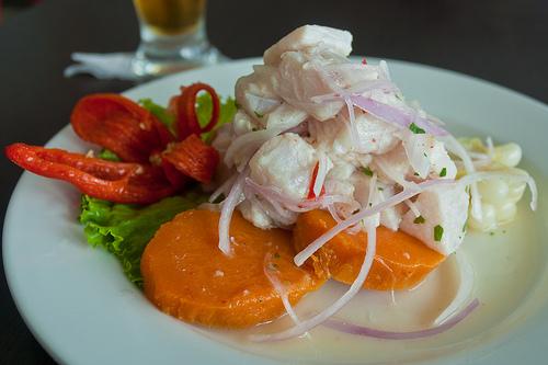 Recetas de cocina saludables y fáciles: Cebiche mixto peruano