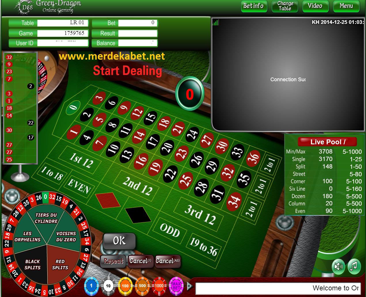 Roulette online bank bri