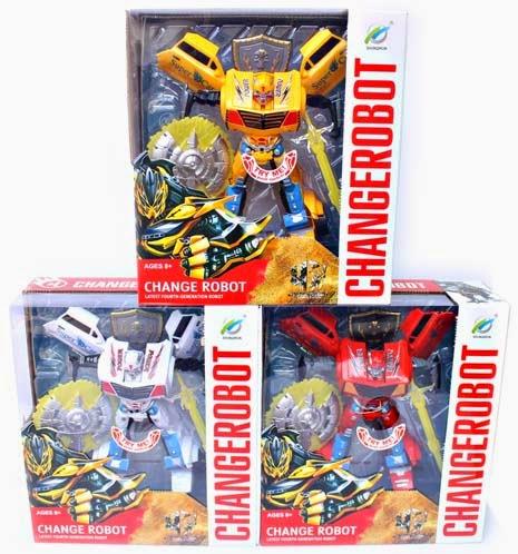 Kado ulang tahun berupa mainan robot robotan keren.